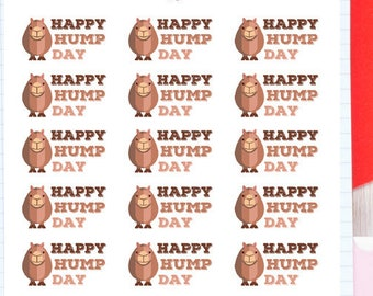 Happy Hump Day Planner Stickers | Hump Day Stickers | Wednesday Stickers | Camel Stickers | Weekly Stickers | Cute Camel Stickers (S-118)