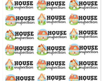 House Inspection Planner Stickers | Home Inspection Stickers | Home Stickers | Cute House Stickers | Inspection Stickers (S-279)