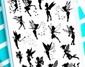 Fairies Planner Stickers | Fairy Stickers | Fairy Silhouette Stickers | Silhouette Stickers | Cute Fairy Stickers | Fairy Princess (S-309)