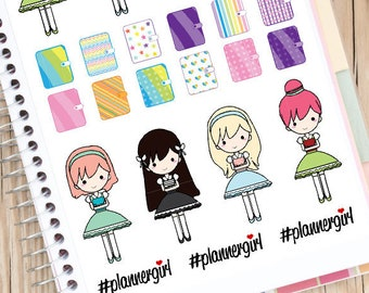 Planner Girls Planner Stickers | Planner Girls Stickers | Planner Addict Stickers | I Love Planning Stickers | Planner Stickers (S-135)