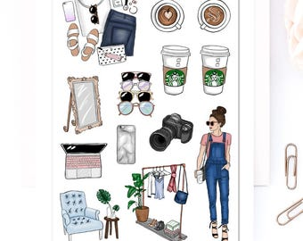 Blogger Babe Planner Stickers | Mystery Grab Bag July 2017 | Blogging Stickers | Lifestyle Stickers | Fashion Blogger Stickers (MGB-JUL17)