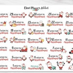 Cute Christmas Countdown Planner Stickers | Christmas Stickers | Christmas Countdown Stickers | Countdown Stickers | Cute Christmas (S-350)