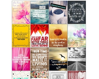 Printable Motivational Inspirational Quotes Planner Stickers Etsy