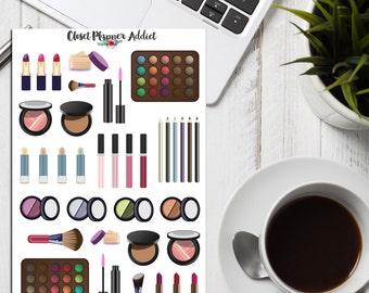 Cosmetics Makeup Planner Stickers   Makeup Stickers   Cosmetics Stickers (S-108)