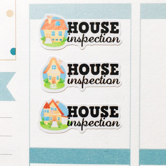 House Inspection Planner Stickers Home