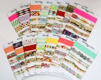 Washi Tape Samples   Sampler Card   Random Designs   Washi Lot Sampler   Cute Washi