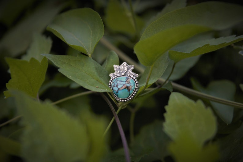 Size 9 Midsummer Night/'s Dream Turquoise Sterling Silver Ring