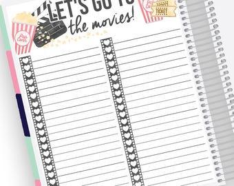 Filme-Tracker Notizen Page Kit - Sticker