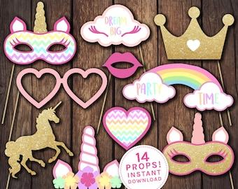Unicorn props, Unicorn party props, Unicorn party, Unicorn birthday invitation, unicorn invitation, Unicorn costume, Unicorn headdress