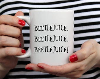 Beetlejuice | Fall Mug | Halloween Mug | Cute Fall Mug | 11 oz or 15oz Mugs | Fall Coffee Mug