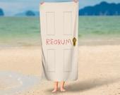 Stanley Kubrick's The Shining Red Rum Beach Towel | Overlook Hotel | Horror Movie