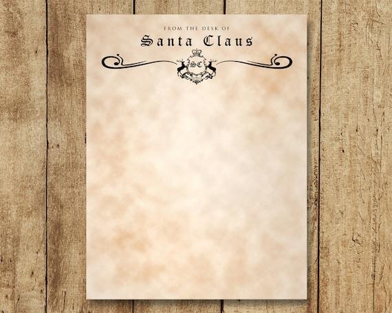 santa stationery letter from santa north pole logo etsy