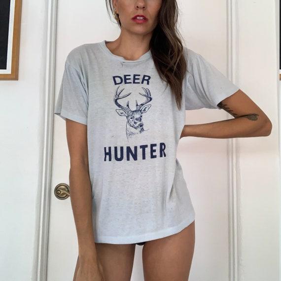 70s Vintage Deer Hunter Baby Blue Tee