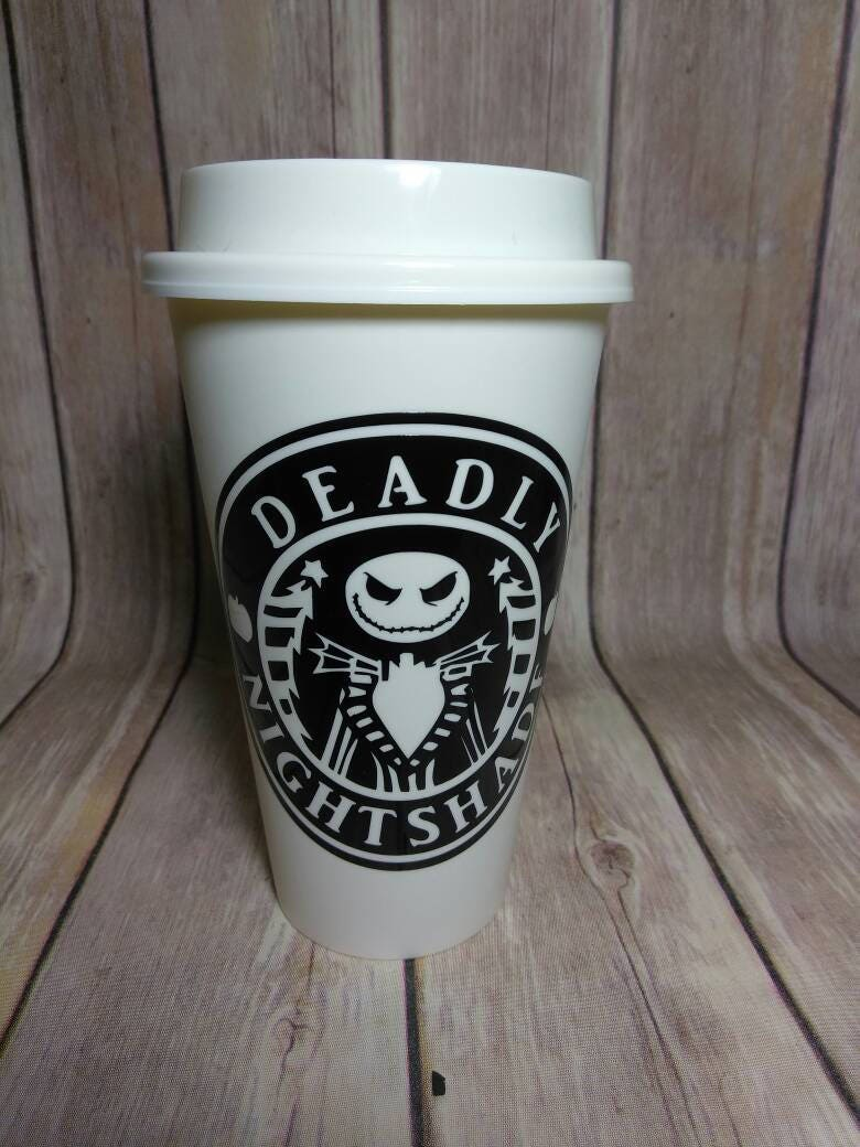 Deadly Nightshade Jack Skellington Coffee Cup Plastic | Etsy