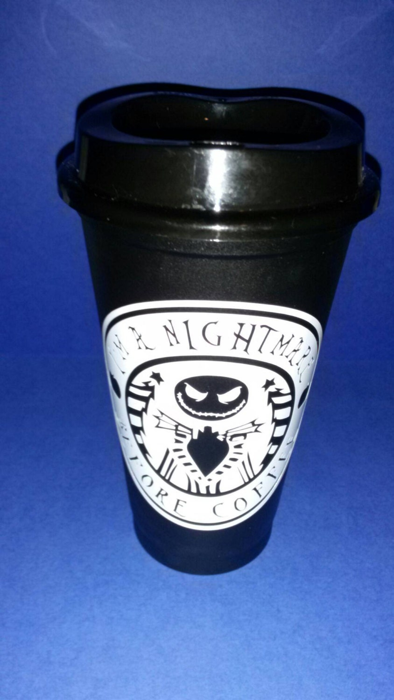 I\'m a nightmare before coffee Skellington Coffee | Etsy
