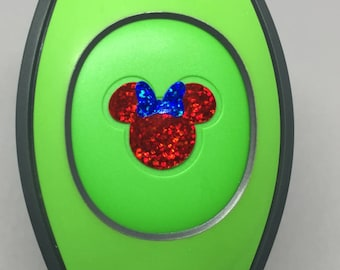 Glitter Minnie Decal for Magic Band 2.0