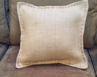 Burlap Pillow With Insert
