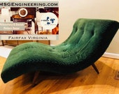 Sold - Vintage Midcentury Wave Form Chaise Lounge Loveseat by Adrian Pearsall for Craft Associates