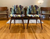 Pair of Adrian Pearsall Craft Associates Scoop Side Chairs Dining