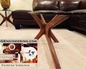 Sold - Adrian Pearsall Craft Associates Vintage Midcentury Modern Coffe Table Walnut Jacks
