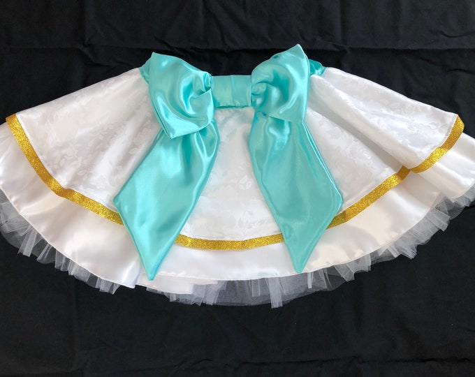 READY TO SHIP / Something Blue Princess  Running Tutu Skirt inspired by Disney's The Little Mermaid