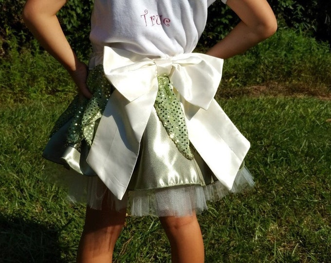 Bayou Belle Girls' Princess Tutu Skirt inspired by Disney's Tiana