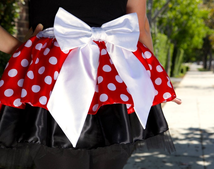 READY TO SHIP / World's Best Girlfriend Minnie Mouse Inspired Tutu Running Skirt
