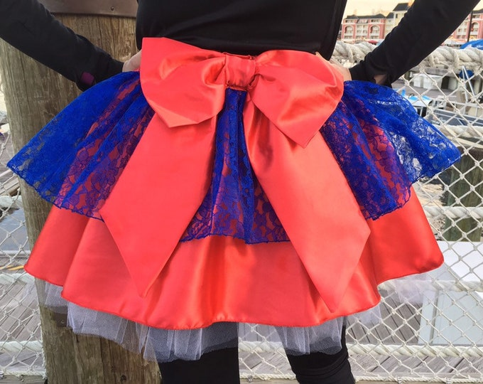 READY TO SHIP / La Princesa Magico Princess Tutu Running Skirt inspired by Elena of Avalor