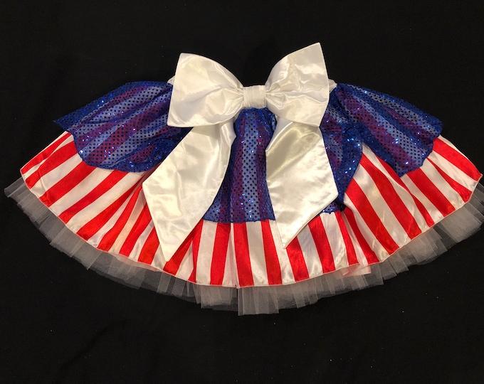READY TO SHIP! / Patriotic Princess costume running tutu skirt