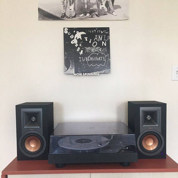 Now Spinning Vinyl Record Wall Mount Display Shelf 3d