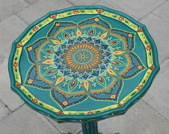 Hand painted table. Painted Furniture, Boho Style.