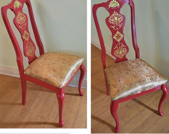 Hand painted chair. Painted Furniture, Boho Style.