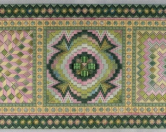 Bargello Trio Tranquil Colorway Complete Needlepoint Kit