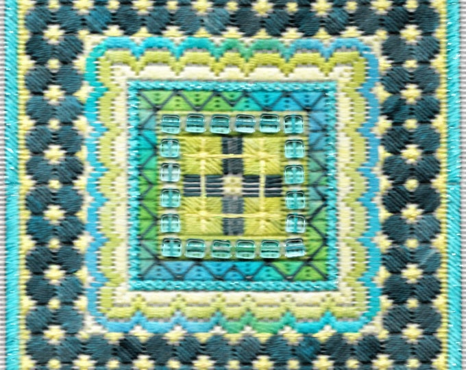 Sparkle 2! Geometric Needlepoint Design Complete Kit