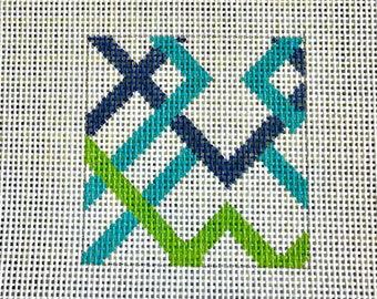 Geometric Needlepoint Canvas Coaster Kits
