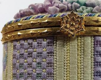 Monet's Garden Oval Box Needlepoint Basic Kit