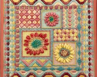 Summer Garden Collage Needlework Complete Kit