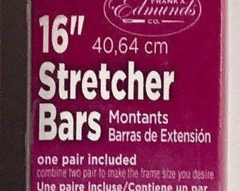 "Needlepoint Stretcher Bars - 16"" Standard Size Stretcher Bars 1 pair"
