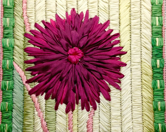 Dahlia Silk Ribbon Needlepoint Basic Kit - 4th in this Silk Flower Series
