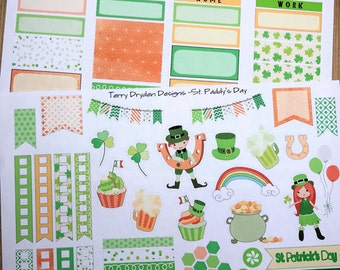 St. Patrick's Day Weekly Planner Stickers for IWP, EC and most other planners