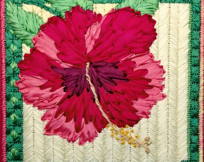 Hibiscus Silk Flower Needlepoint Basic Kit - 2nd in this Silk Flower series