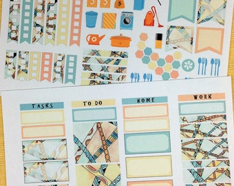 Zen 2017 Taos Weekly Planner Stickers for IWP and most other planners