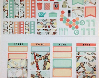 Zen 2017 Napa Weekly Planner Stickers for IWP and most other planners