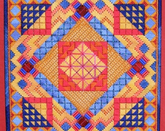 Tiebele Nights Geometric Needlepoint BASIC KIT