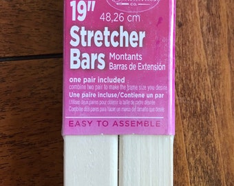 Needlepoint Stretcher Bars - 19 inch Standard Size Stretcher Bars 1 pair