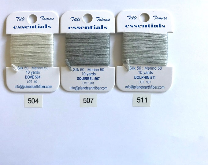 Essentials Threads Colors  NEW GRAYS