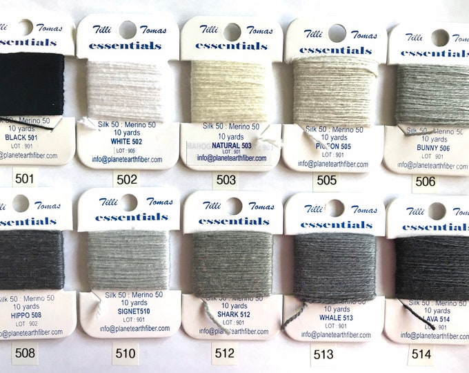Essentials Threads Colors 501 - 513