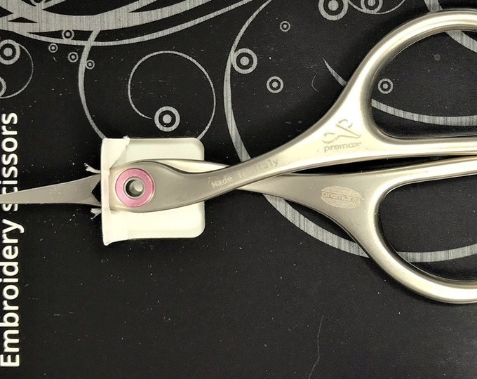 """Embroidery Scissors - Premax 3-3/4"""" Embroidery CURVED Blade Scissors with Serrated Blades"""