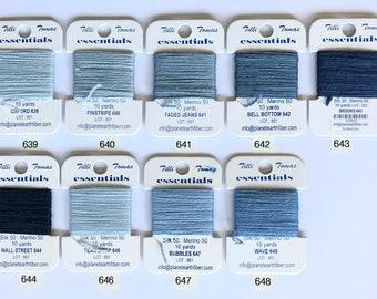 Essentials Threads Colors 639- 648