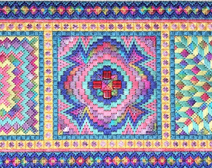 Bargello Trio Brights Colorway Complete Needlepoint Kit